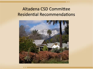 CSD Residential Recommendations
