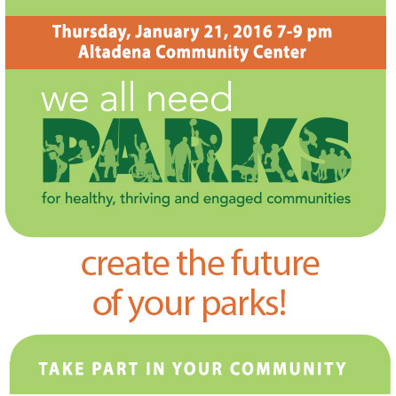 Create the Future of Your Parks – Altadena