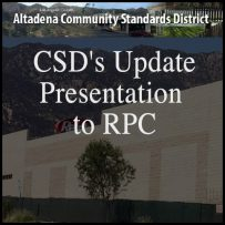 October 26 – Attend the Rescheduled CSD's Update Presentation to RPC