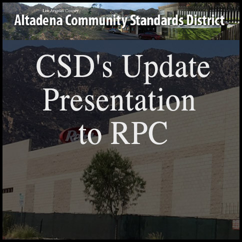 CSD's Update Presentation to RPC