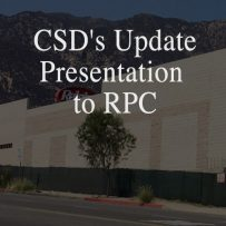 July 28: Attend CSD's Update Presentation to RPC