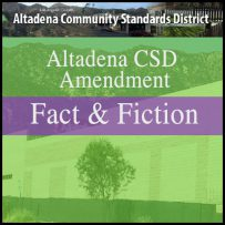 Altadena CSD Revisions: Fact vs. Fiction