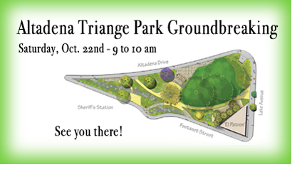 Altadena Triangle Park Groundbreaking