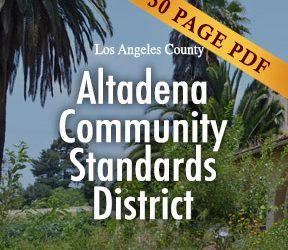 Altadena Community Standards District Ordinance