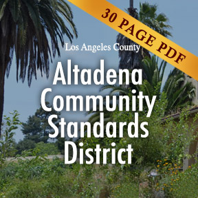 Altadena Community Standards District Ordinance