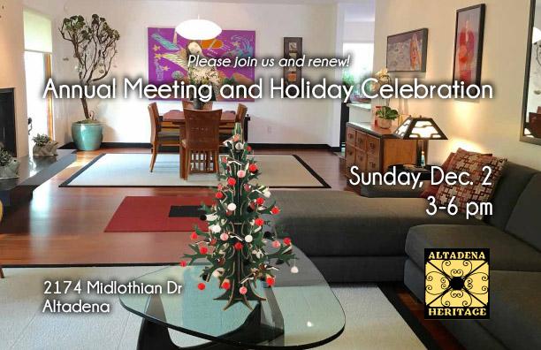 Holiday Celebration – Sunday, Dec. 2