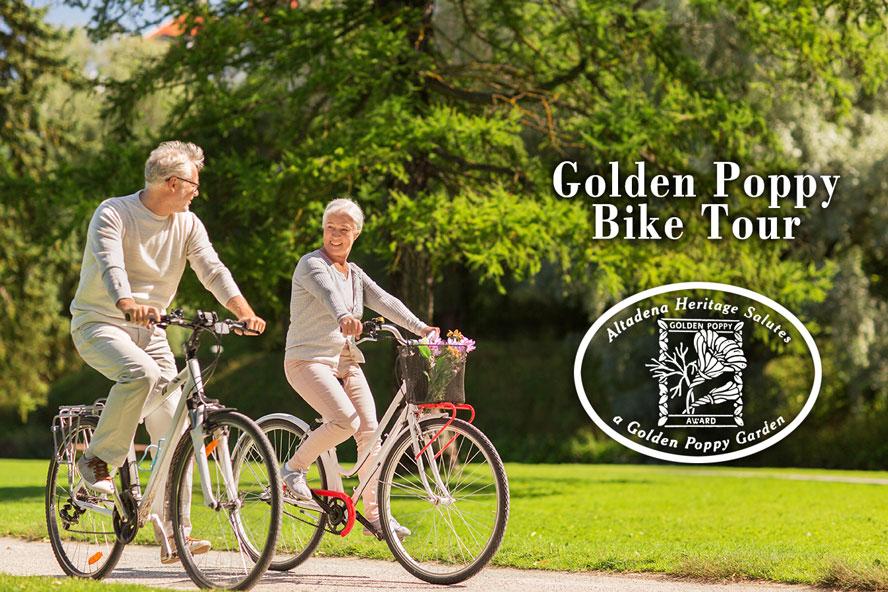 Community Bike Tour of Golden Poppy Winning Gardens